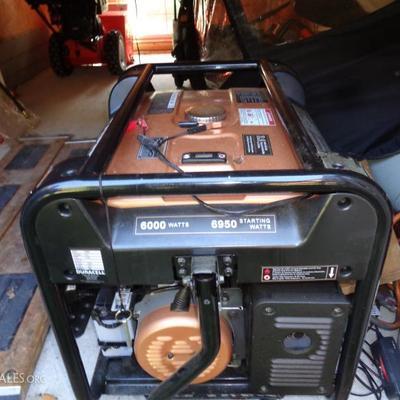8K watt generator Duracell