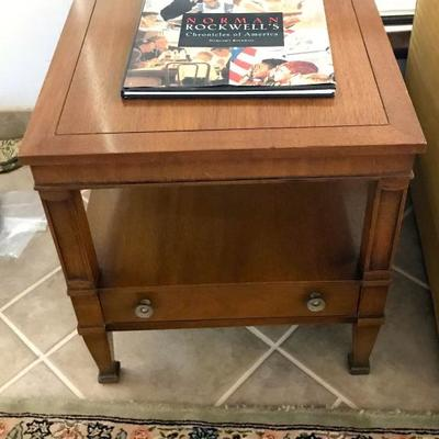 Drexel Carpathian Elm Burl Coffee And End Tables