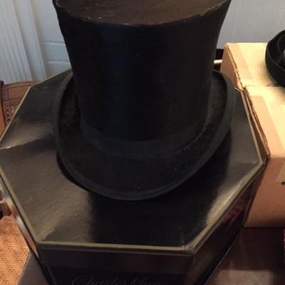 Vintage Top Hat, black, Sold by McFarlin's, Rochester, N.Y.