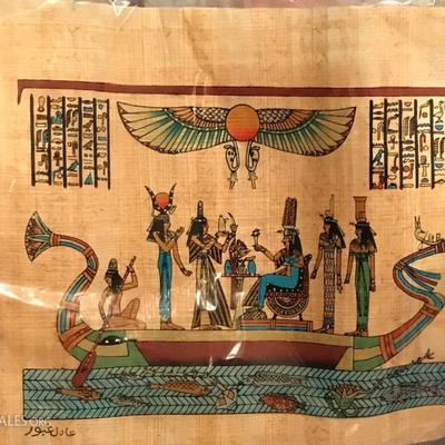 Papyrus Egyptian hand painted