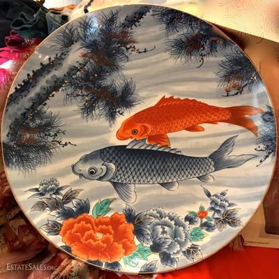 Large Japanese Koi Fish Platter