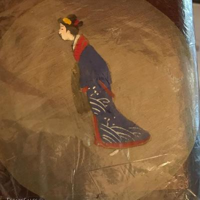 Japanese hand painted on silk