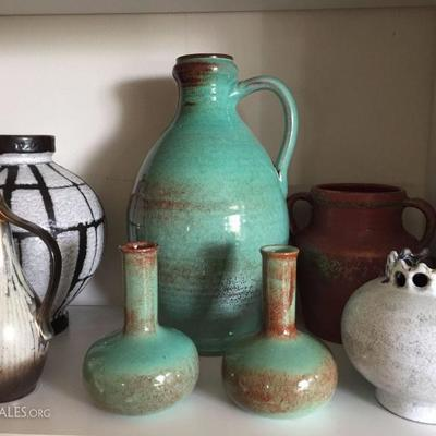 Nice Collection of West Germany Pottery.