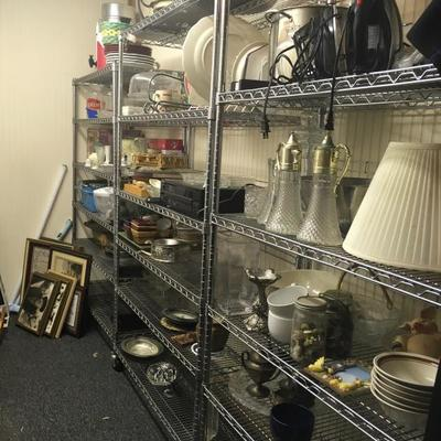 Misc household and shelving