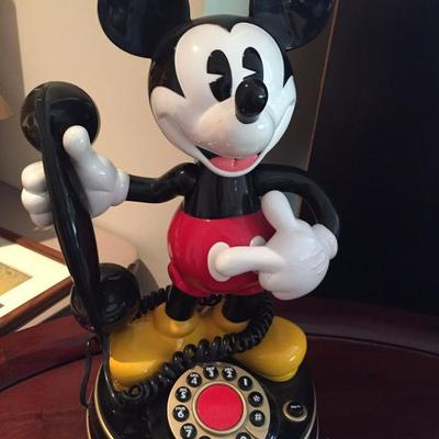Mickey Mouse clock.