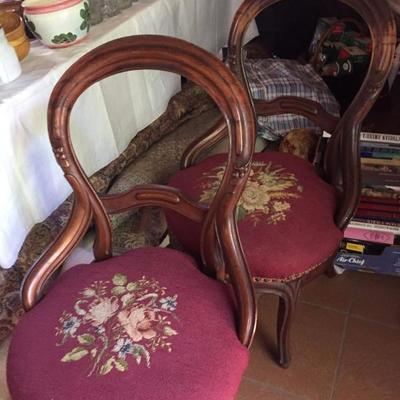 Needlepoint Chairs.
