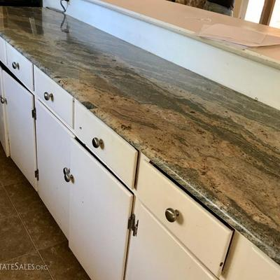 Granite Kitchen Counter Tops, 2 Long Counter Tops Cabinet Hardware