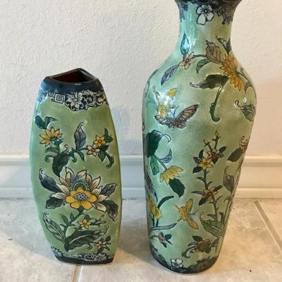 Asian vases: Formalities by Baum Bros. IMPERIAL PEONY COLLECTION
