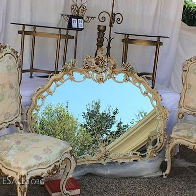 Silik Italy Mirror, Chairs, and accents