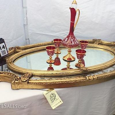 Maroon & Brass Bar Stool set