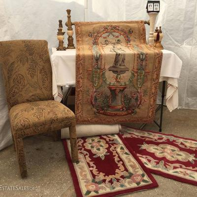 Goblys Tapestry, rugs, accents and chair
