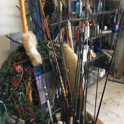 Lots or rods and reels; Tools