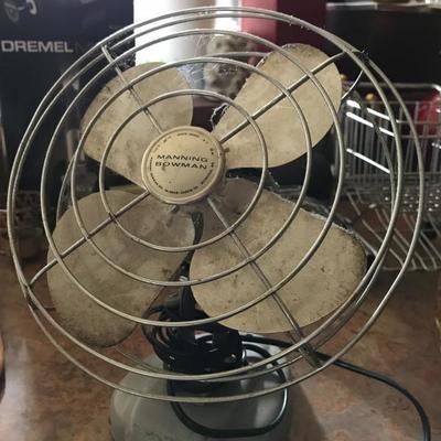 Vintage original Manning Bowman oscillating fan. Price at estate sale: $25