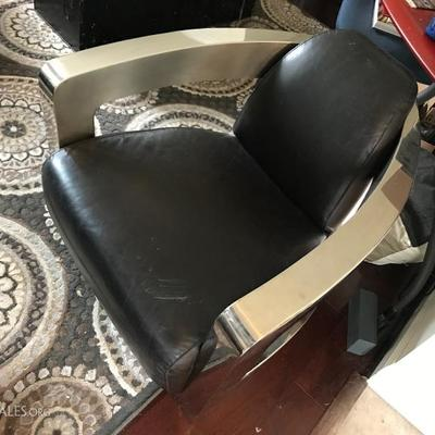 Sinclair Aviator Club Chair. Chrome & Black Leather. Purchased for $1,795 in 2015. Estate sale price: $300