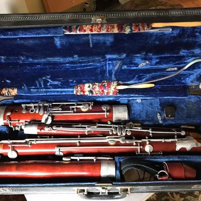 Schreiber & Sons Wood Bassoon and Hard Case With Accessories.