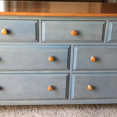 Ethan Allen Dresser. From Country Colors Collection, Stained Blue Denim.