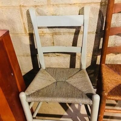 Wooden Cane Chair.