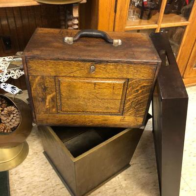 Rare Small Machinist tool box Oak 1920s $175 OBO