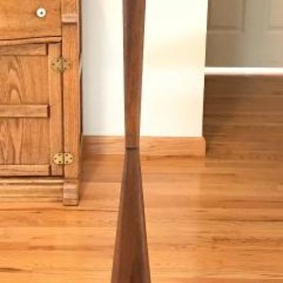 Mid Century Scandinavian Modern Teak Floor Lamp With Touch On/Off