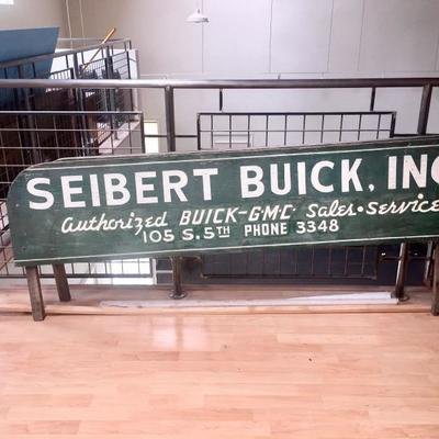 BUICK dealership advertising on 1930s GMC pick up truck side boards
