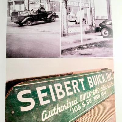 Original photos of GMC truck with sideboards & BUICK dealership