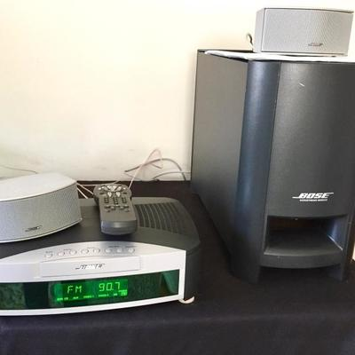 Bose Wave Radio III with Bose Acoustimass Module Sub Woofer and Speakers (CD/DVD non-functioning)
