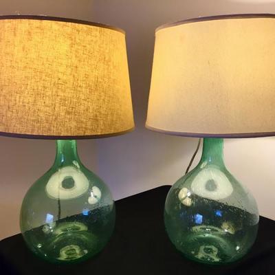 Blown-glass lamps
