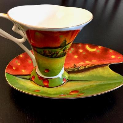 Cha Cult Fine Porcelain China Tea Cup and Saucer