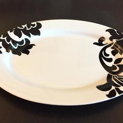Martha Stewart Collection Black Lisbon Oval Serving Platter