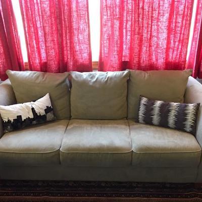 Suede-like sofa