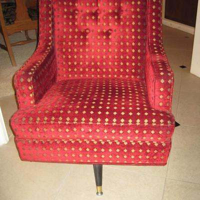 Mid Century Swivel Rocker with new upholstery