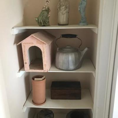 Vintage Metalware and wooden items.