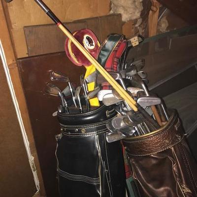 Vintage Golf Clubs.