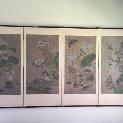 Oriental screen.