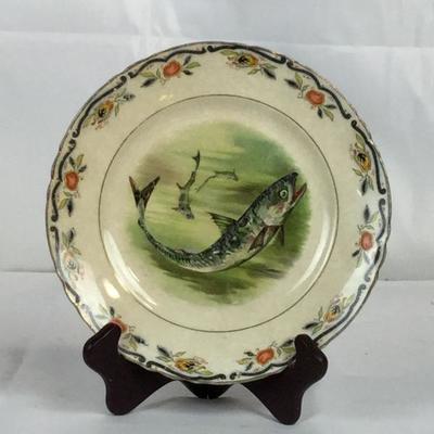 Lot #19 Dresden Fish Plate