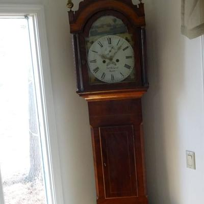 There are two early tall clocks at this sale. both will need some work, Very nice cabinets and decoration