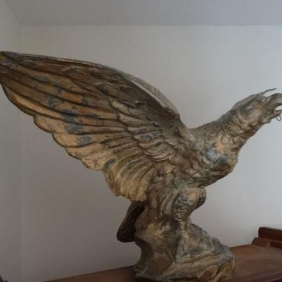 Antique brass eagle open wing attributed to the New England area.of 1900-1910