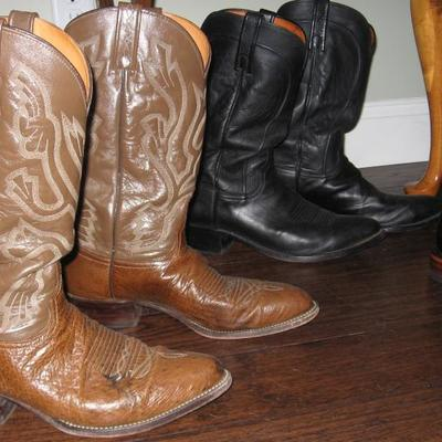 Cowboy all leather boots size 10-11