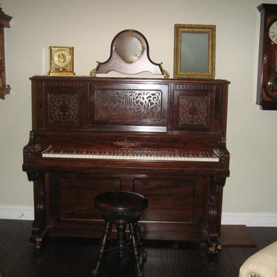 1880's Chickering Piano fully professionally restored available for pre-sale $22,000.00