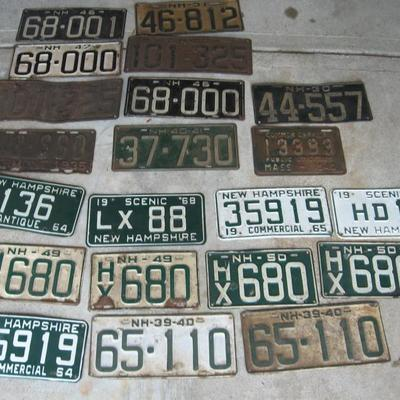 antique licence plates