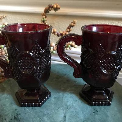 Avon. 1876 Cape Cod Collection. Tow Pedestal Mugs. $10 for the pair. Comes in a box.