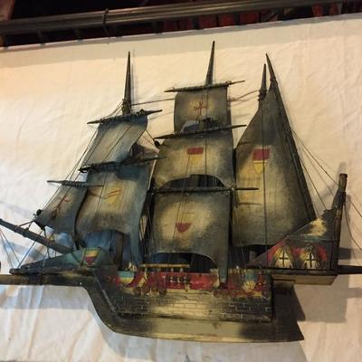 Wooden Ship Model.