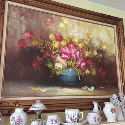 Artwork and Vintage Ceramics.