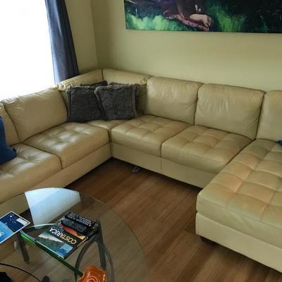 Natuzzi Leather Sectional
