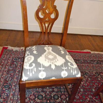 Set of 6 Chippendale style chairs $345