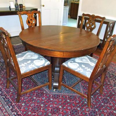 Mahogany table $400 48 X 28