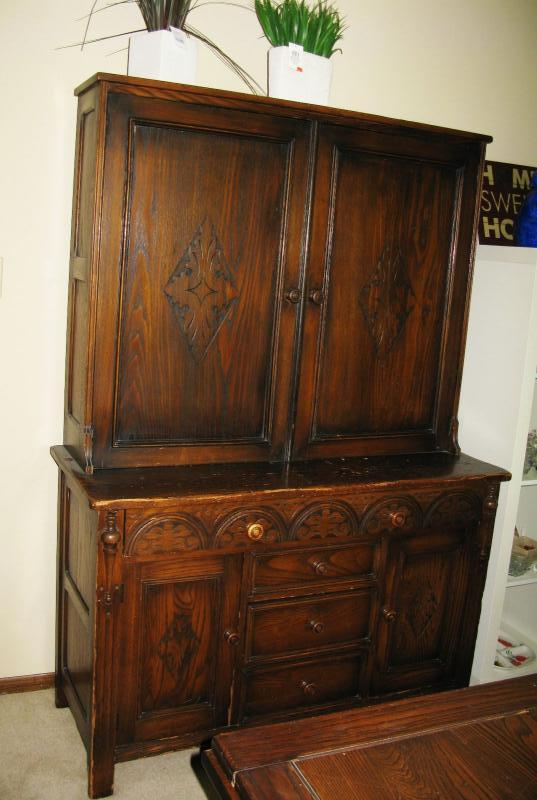Antique dining room matching china cabinet  BUY IT NOW  $ 185.00