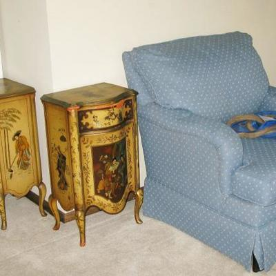 hand painted Asian tables  BUY THEM NOW  $ 85.00 EACH