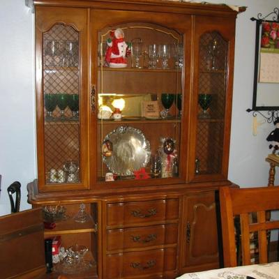 maple china cabinet  BUY ME NOW  $ 165.00