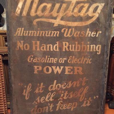 RARE c.1919 tin Maytag Advertising Sign